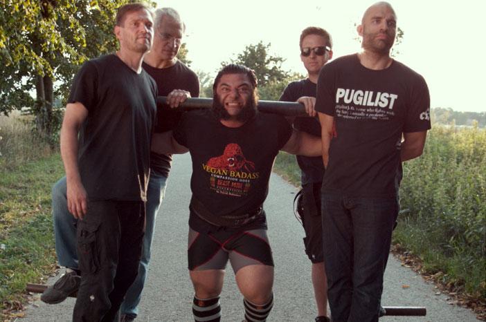Screenshot from Film of Patrik lifting